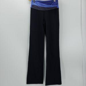 LULULEMON black with blue waistband yoga pants